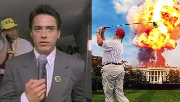 """De izquierda a derecha, imágenes de las películas  """"The Last Party"""" (1993) y """"Fahrenheit 11/9"""" (2018), películas que examinan la política estadounidense. Fotos: Triton Pictures/ Briarcliff Entertainment."""