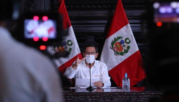 Presidente Martín Vizcarra ofrecerá pronunciamiento en el día 31 del estado de emergencia para frenar avance de coronavirus. (Foto: Presidencia)