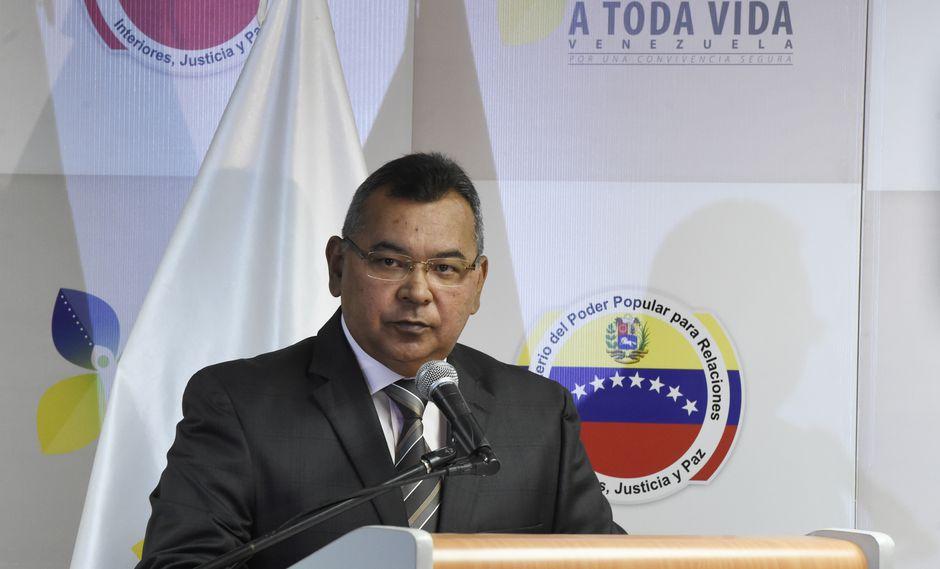 "Néstor Reverol | Venezuela anuncia captura de militares retirados que planeaban ""asesinatos selectivos"". Foto: Archivo de AFP"