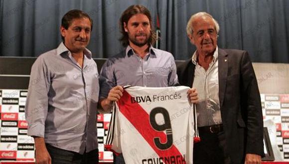 Fernando Cavenaghi regresó a River Plate ilusionado por su tercera etapa