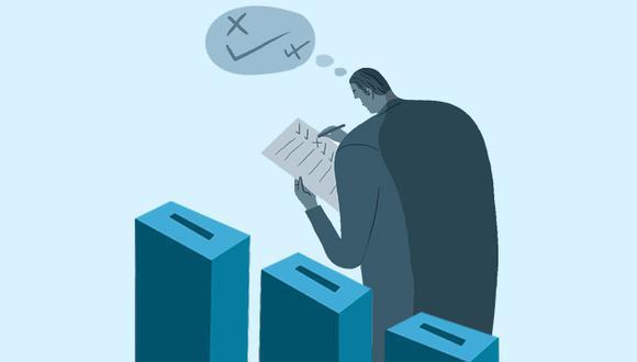 El proceso electoral de las organizaciones políticas estará organizado, por primera vez, por la ONPE. Serán simultáneos, y los resultados empezarán a conocerse hoy mismo. (Ilustración: El Comercio)