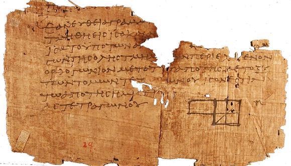 Imagen de uno de los papiros Oxyrhynchus. (Foto: Wikipedia)