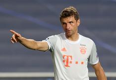Thomas Müller se quejó de forma escandalosa tras ser amonestado frente al Atlético de Madrid