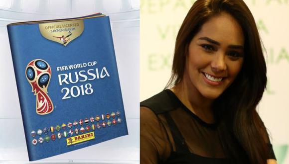 La ex Miss Perú también llenará su álbum Panini del Mundial Rusia 2018. (Fotos: USI/Facebook)