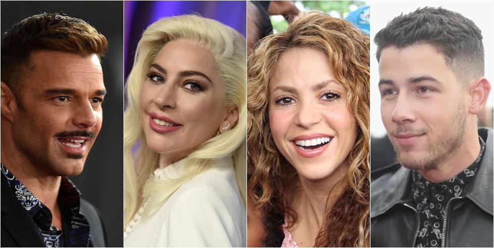 Ricky Martin, Lady Gaga, Shakira y Nick Jonas se pronunciaron tras el triunfo de Joe Biden. (Fotos: Agencias)