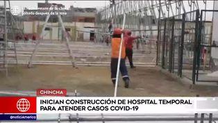 Chincha: inician construcción de hospital temporal