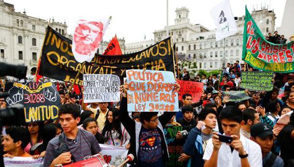 TC admitió a trámite demanda contra régimen laboral juvenil