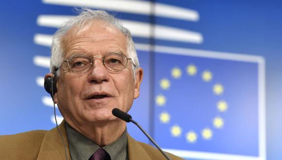 """La Unión Europea """"no puede reconocer este proceso electoral como creíble, inclusivo o transparente"""", dijo el jefe de la diplomacia europea, Josep Borrell, sobre las elecciones para la Asamblea Nacional de Venezuela. (Foto: JOHN THYS / POOL / AFP)."""