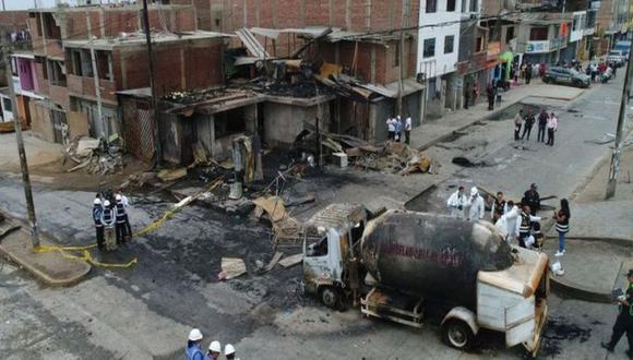 Se elevó a 32 la cifra de muertos que dejó el incendio en Villa El Salvador tras una fuga de gas que causó un incendio en Villa El Salvador. (Foto: GEC)