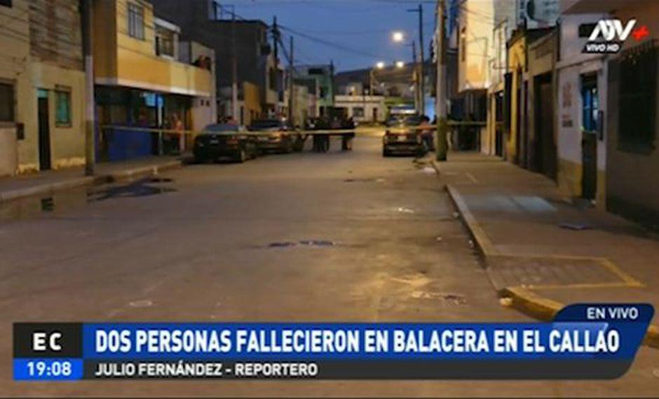 La balacera ocurrió en la cuadra 9 del jirón Nicolás de Piérola, a la altura de la cuadra 8 de la avenida Saénz Peña. (ATV+)