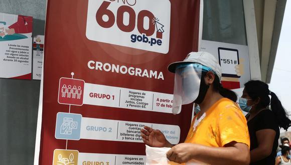 El Bono 600 está destinado a los hogares más vulnerables del país. (Foto: GEC)