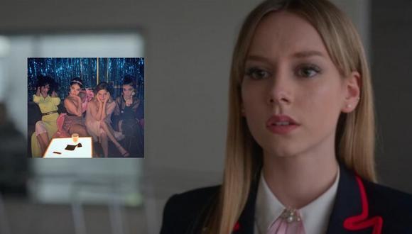 Georgina Moros, 'Cayetana' en 'Élite', subió una fotografía junto a sus compañeras de elenco en donde la gran ausente fue Ester Expósito. (Foto: Netflix)