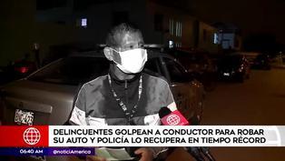 Carabayllo: asaltantes golpean a conductor para robar su vehículo