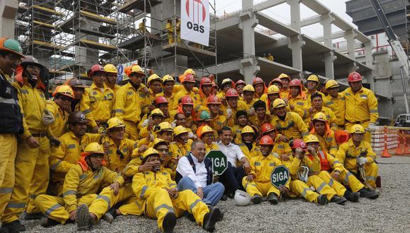Setiembre del 2014. El presidente Ollanta Humala visita las obras del Centro de Convenciones de Lima, que están a cargo de OAS. (Foto: Archivo El Comercio)