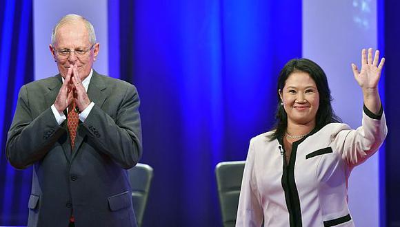 La ONPE presentó ayer resultados de la segunda vuelta electoral entre PPK y Keiko Fujimori al 100% de actas procesadas. (Foto: AFP)