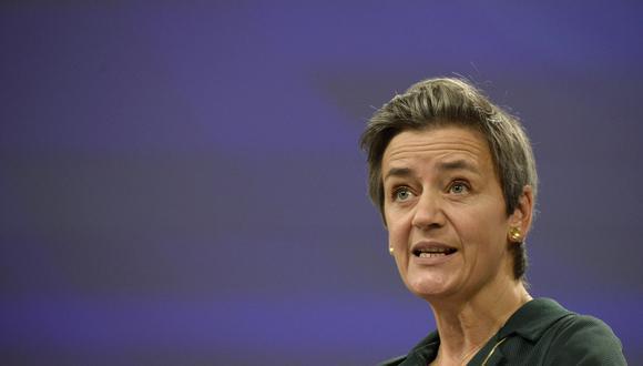 La vicepresidenta de la Comisión Europea (CE) encargada de competencia, Margrethe Vestager. (AFP)