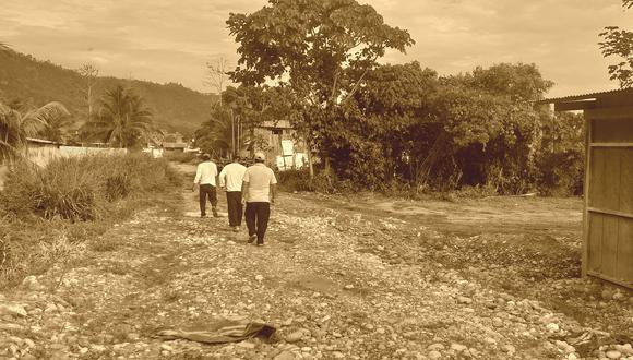Un total de 19 campesinos del centro poblado Unión Fortaleza, distrito de Vizcatán del Ene (Junín), fueron secuestrados por una columna armada de Sendero Luminoso, que días antes había intentado tomar posesión de las casas y cultivos de esa comunidad. (Foto: Enrique Vera)