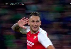 Real Betis vs. Sevilla: Lucas Ocampos anotó el 1-0 en el derbi andaluz | VIDEO