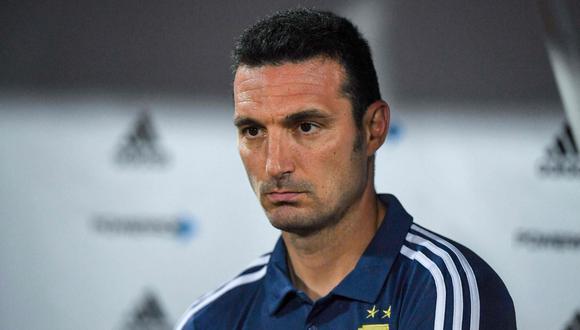 Scaloni, actual entrenador de la selección argentina. (Foto: AFP)