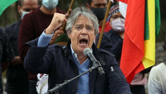 Guillermo Lasso agradece apoyo con 9 puntos de ventaja sobre Andrés Arauz con la mitad de votos escrutados en Ecuador. (Foto: Cristina Vega RHOR / AFP).