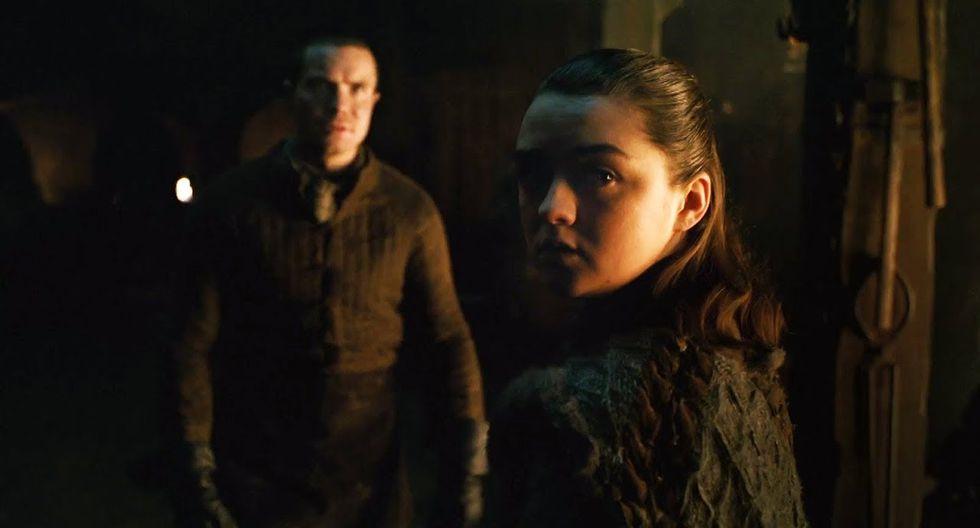 """Arya Stark y Gendry a lo largo de las siete temporadas de """"Game of Thrones"""". (Foto: HBO)"""