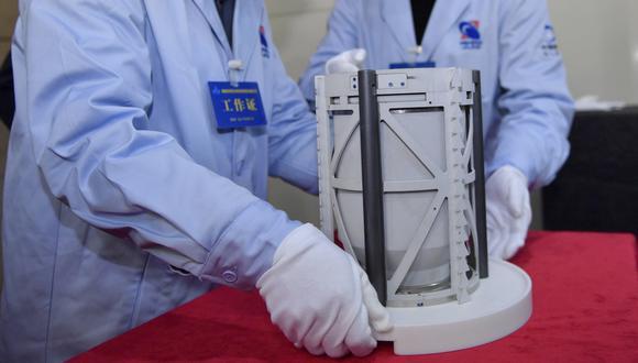 Son las primeras muestras lunares recolectadas por China. (Xinhua / Yue Yuewei)