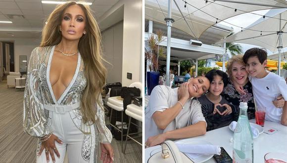 Jennifer Lopez pasó su día al lado de su madre y sus gemelos, Max y Emme. (Foto: Instagram @jlo).