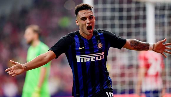 El argentino de 22 años colocó al Inter de Milán en la punta de la Serie A, tras anotar un doblete en la victoria 2-1 de su equipo sobre SPAL. (Foto: AP)