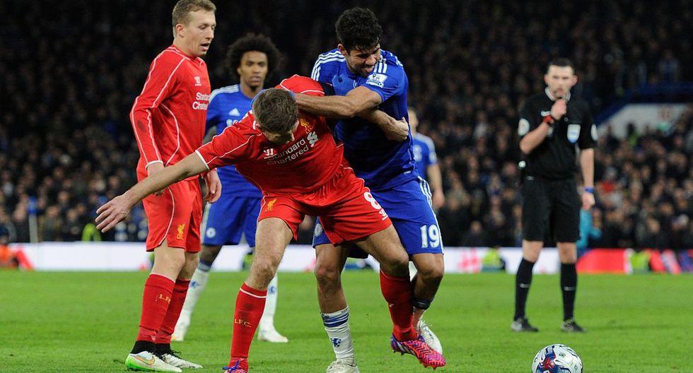 Diego Costa desató la furia de los jugadores del Liverpool - 12