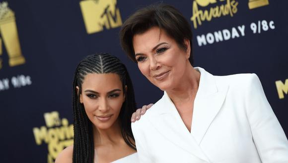Kim Kardashian envía tierno mensaje a su madre Kris Jenner por su cumpleaños. (Foto: AFP/Valerie Macon)