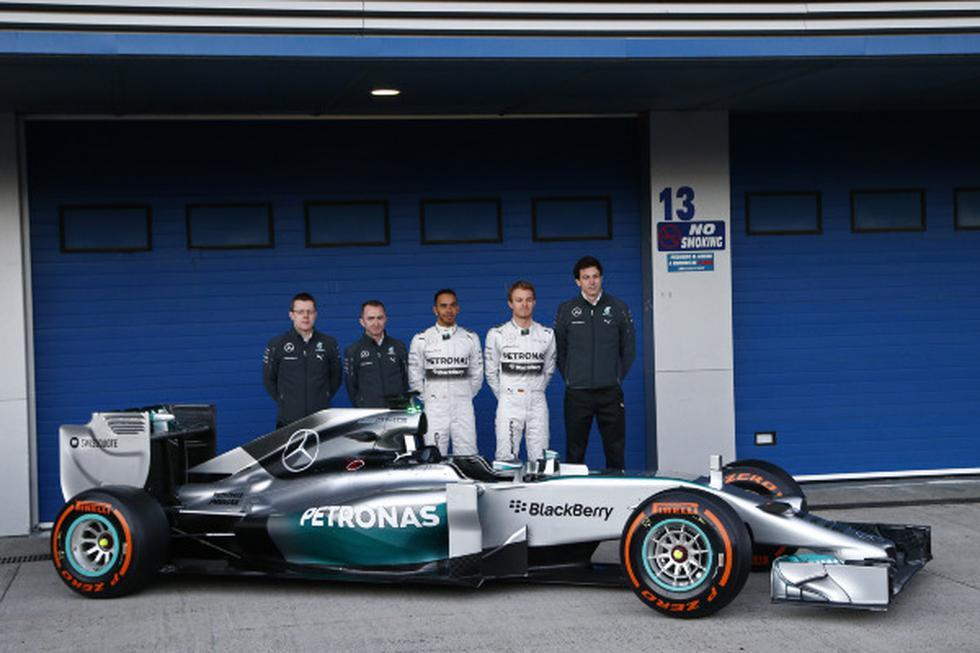 Este es el nuevo monoplaza de Mercedes para el 2014 - 1
