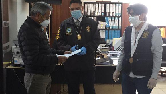 La intervención se realizó tras varias denuncias contra los funcionarios de esta entidad. (Foto: PNP)