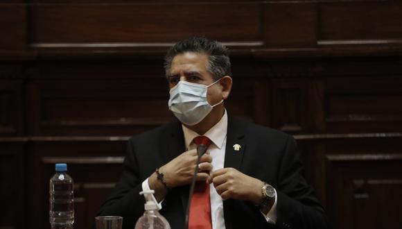 """Manuel Merino comparó con un """"noviazgo"""" los consensos alcanzados entre el Congreso y el Ejecutivo que permitieron dictar una norma sobre reprogramación de deudas (Foto: Reno Salazar/Grupo El Comercio)"""