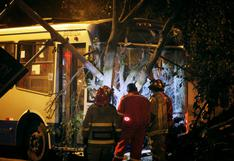 Cercado de Lima: dos mujeres resultaron heridas tras choque de Corredor Azul contra un árbol