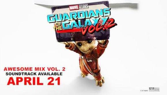 """YouTube: este es el soundtrack de """"Guardianes de la galaxia 2"""""""