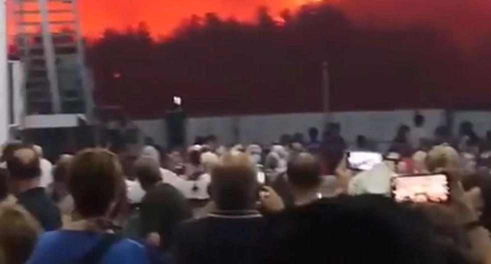 Greece on fire