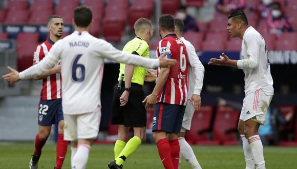 Atlético de Madrid publica polémico mensaje en Twitter tras derbi de Madrid. (Foto: AP)