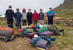Áncash: rescatan a turistas extranjeros en bosque de Piedra en Recuay durante cuarentena por COVID-19
