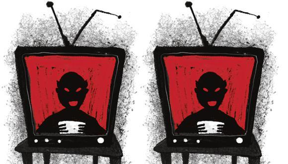 """""""Mostrar tantas imágenes de violencia indiscriminada es también un acto de violencia"""". (Ilustración: Giovanni Tazza)"""