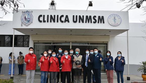 Investigadores del laboratorio chino Sinopharm realizaron su primera visita de supervisión a las instalaciones de la Unidad de Ensayos Clínicos de la universidad.(Foto: @UNMSM_)