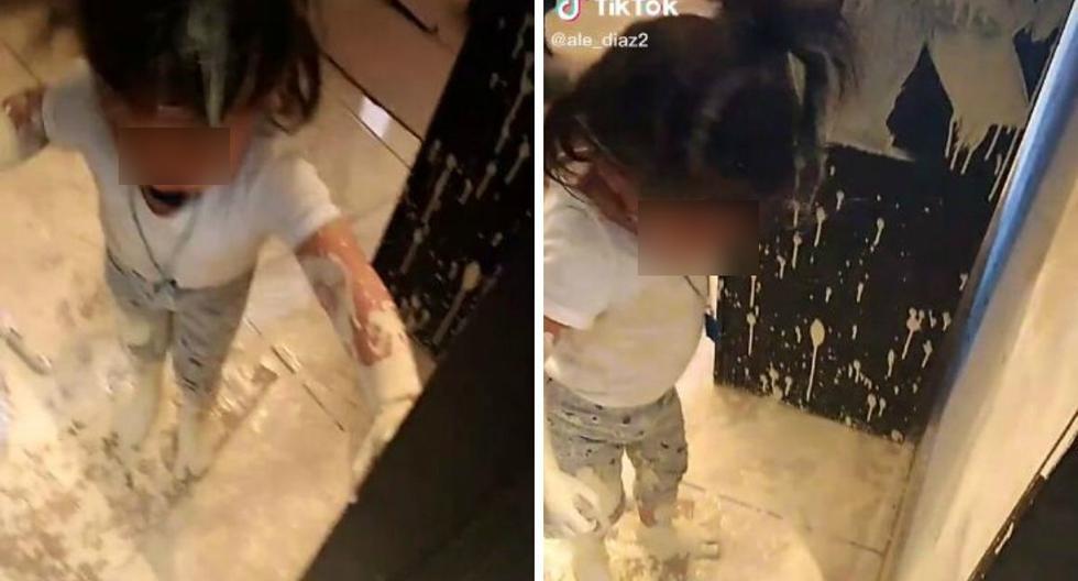 Muchos creen que la niña sufrió maltrato durante la grabación de este video. (@ ale_diaz2)