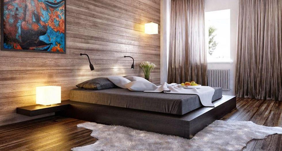 Para generar un efecto de mayor amplitud, instala los listones de madera de forma horizontal. Hay piezas de porcelanato de 20 cm x 1,20 m con esta apariencia. De The Woodside Homes.