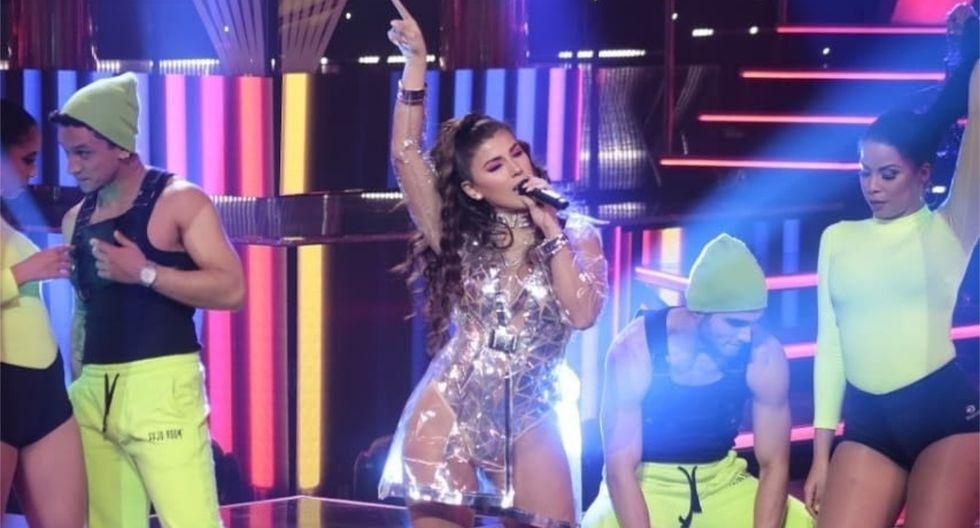 La cantante retornó la pista de baile de 'El Artista del Año'. (Foto: @elgranshowperu/@yahairaplasencia)