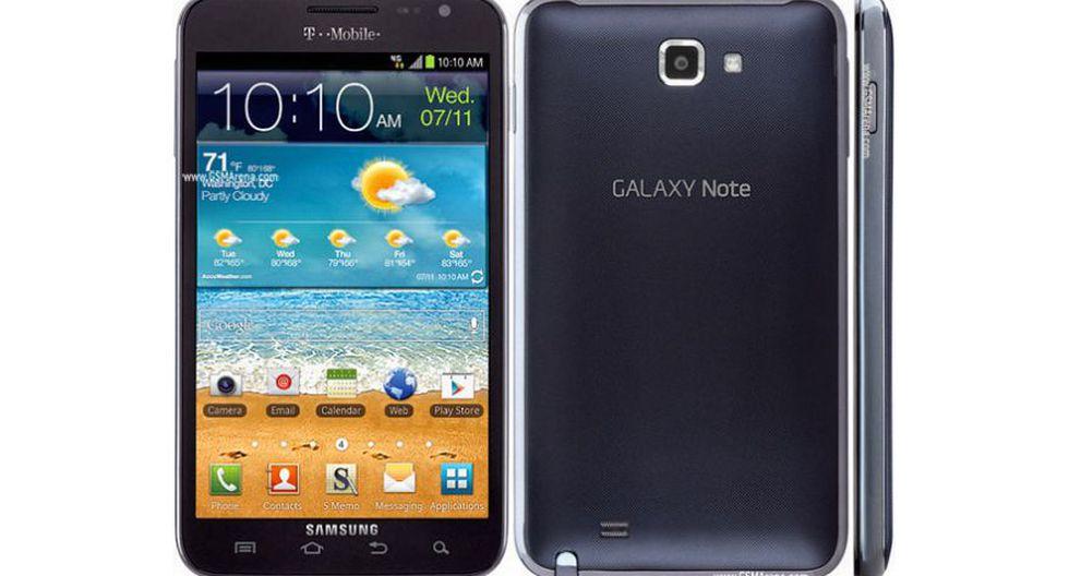 El Samsung Galaxy Note apareció por primera vez en el año 2011. (Foto: GMSArena)