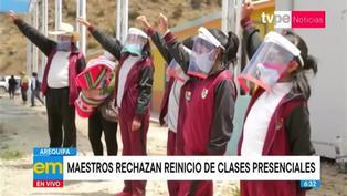 Arequipa: maestros rechazan reinicio de clases presenciales