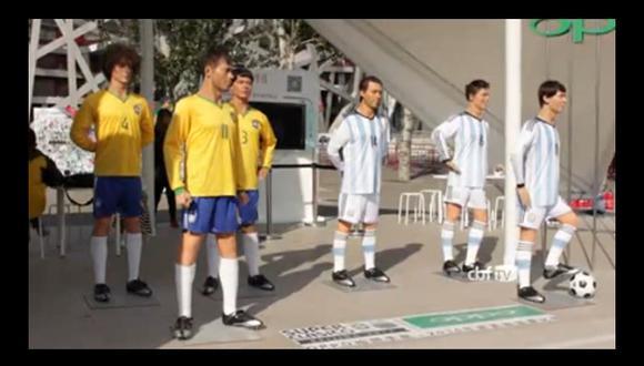 Estatuas de Messi y Neymar promocionan clásico en China