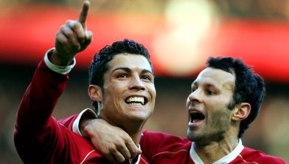 Cristiano Ronaldo y Ryan Giggs coincidieron en Manchester United durante seis temporadas. (Foto: AFP)