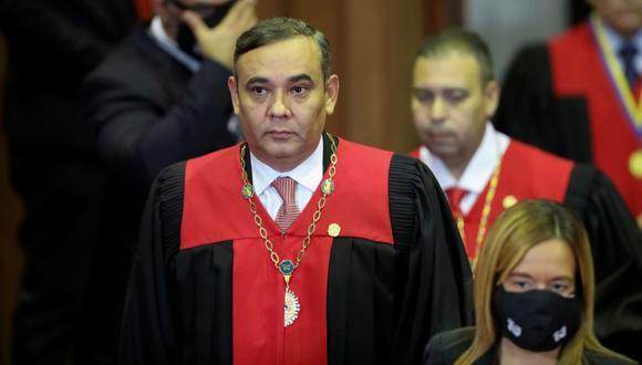 Maikel Moreno, presidente de la Corte Suprema de Venezuela participa en la ceremonia de juramento de los nuevos líderes del Consejo Nacional Electoral de Venezuela en Caracas. (Foto: REUTERS / Manaure Quintero).