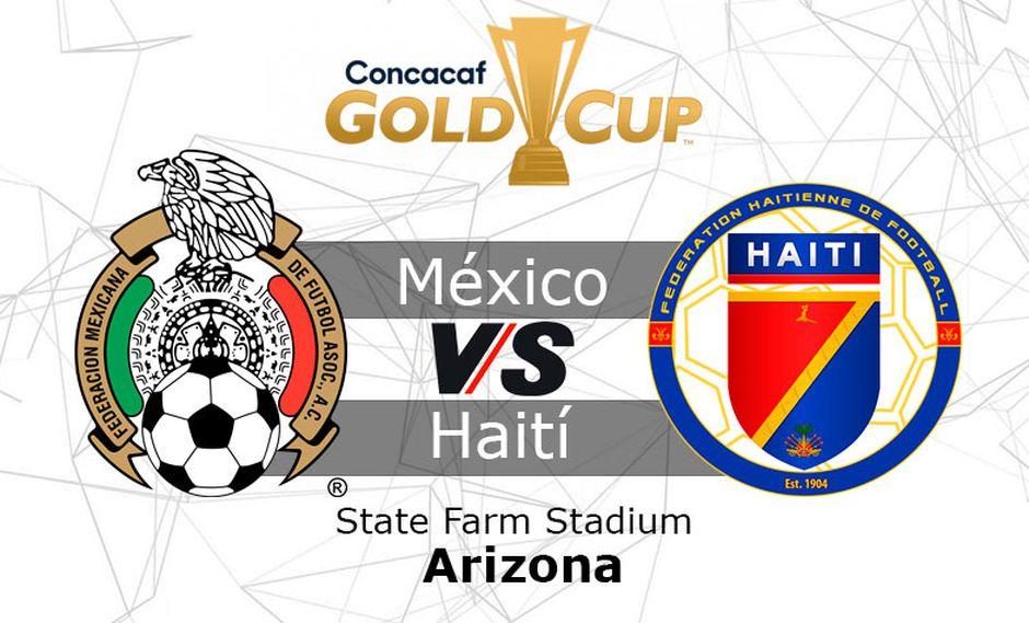 México juega contra Haití por la semifinal de la Copa Oro 2019 en el State Farm Stadium de Arizona.