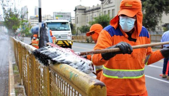 En las labores participaron 16 trabajadores de limpieza de la Municipalidad de Lima. (Foto: MML)